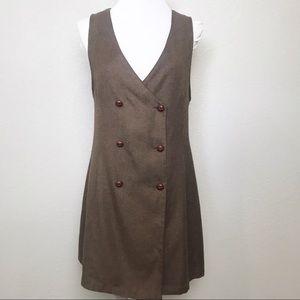 Ecote brown sleeveless tux menswear dress